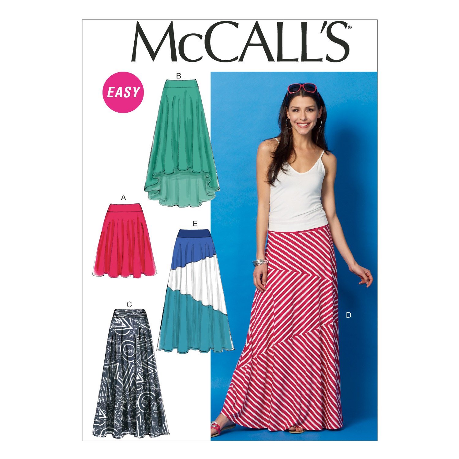 McCall's Misses' Skirts Pattern M6966 Size 0Y0 by Kwik Sew in USA