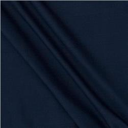 Stretch Nylon Pique Knit Navy Fabric