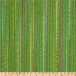 Purrfect Notions Ric Rac Stripe Green Fabric