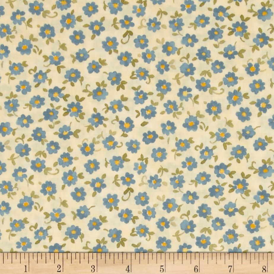 Moda Nanette Single Bloom Ivory/Bluebonnet