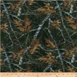 Nature Fleece Maple Leaves and Branches Multi