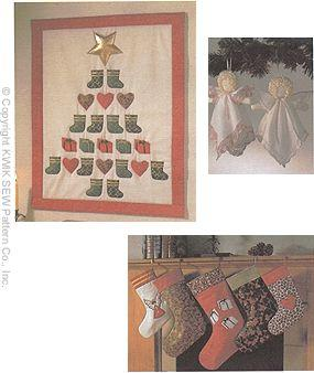 Kwik Sew Angel, Advent Calendar & Stockings Pattern