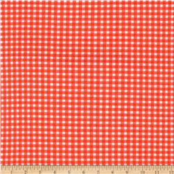 Michael Miller Tiny Gingham Fire Fabric