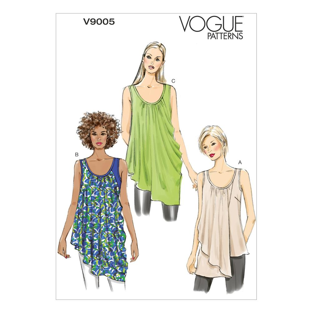 Vogue Misses' Top Pattern V9005 Size 0Y0