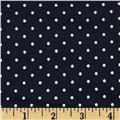 Stretch Bengaline Suiting Dots Navy/White