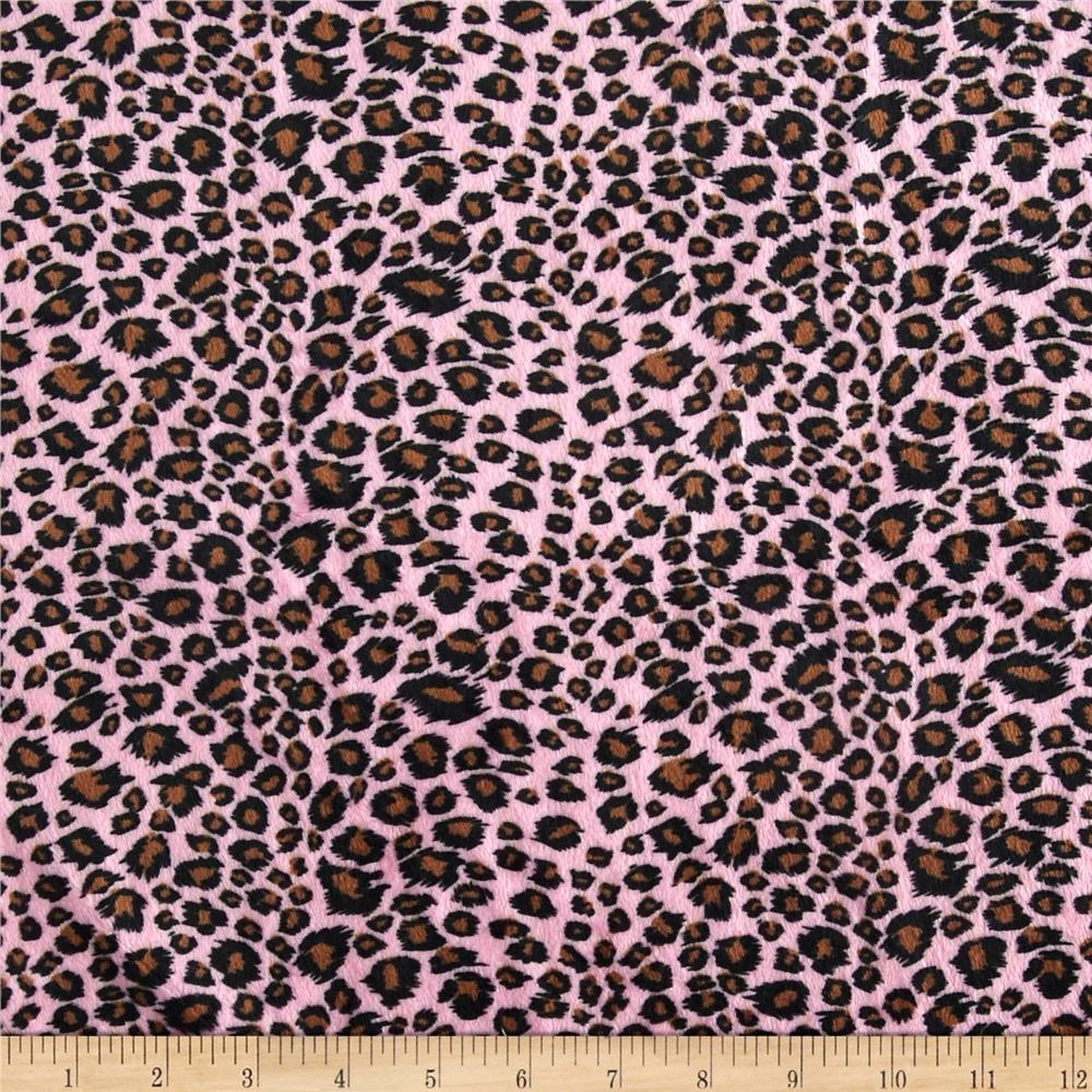 Minky Cheetah Print Small Bubblegum Pink