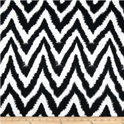 Premier Prints Diva Chevron Black Fabric