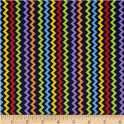 Space Age Chevron Navy/Multi Fabric