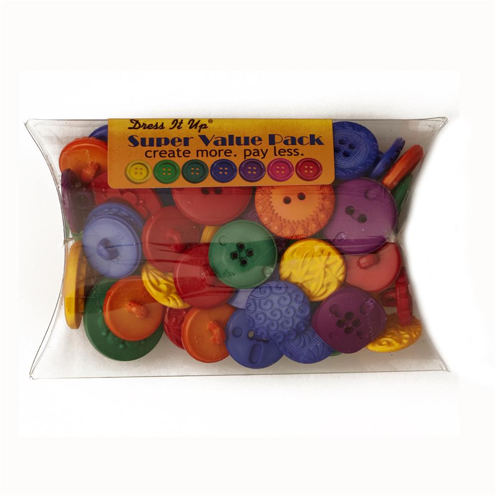 Dress It Up Super Value Pack Buttons Finger