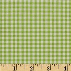 "Kaufman 1/8"" Carolina Gingham Celery"
