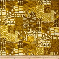 Jakarta Abstract Golden Yellow