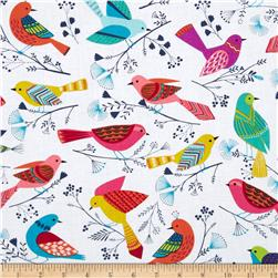 Michael Miller Flock Birds White