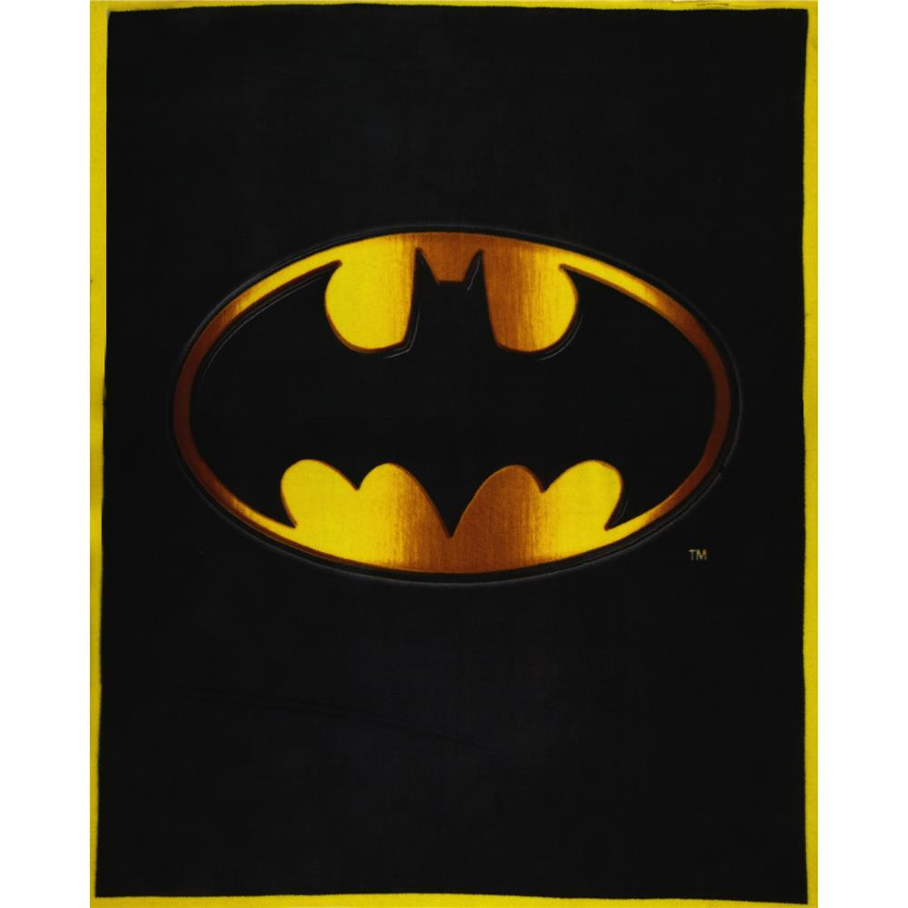 Fleece Batman Panel Black/Gold