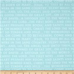 Christmas Pure & Simple Glad Tidings Seafoam Fabric
