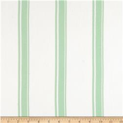 Designer Rayon Crepe Stripes Mint/Cream