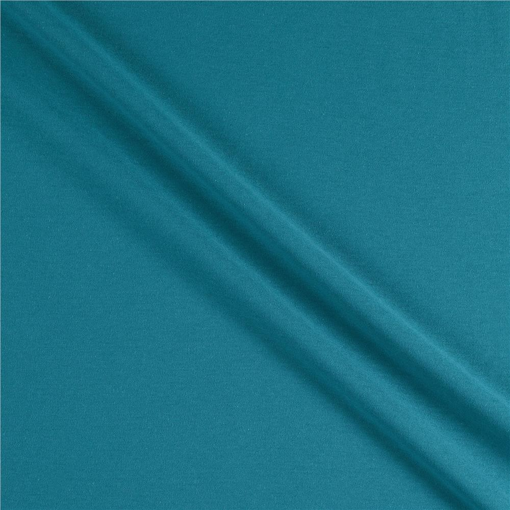 Telio Organic Cotton Jersey Knit Teal Fabric