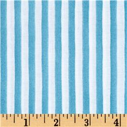 Loralie Designs Lazy Beach Gulf Stripe Turquoise