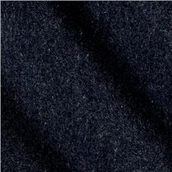 Wool Blend Melton Charcoal Grey