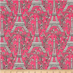Michael Miller Eiffel Tower Pink Fabric