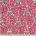 Michael Miller Eiffel Tower Pink