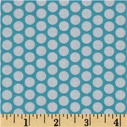 Riley Blake Honeycomb Dot Aqua/White Fabric