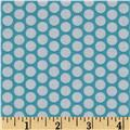 Riley Blake Honeycomb Dot Aqua/White