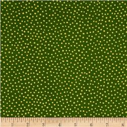 Metallic Christmas Snowball Metallic Dot Green