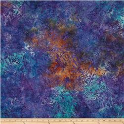 Island Batik Purple Rain Purple/Teal Allover