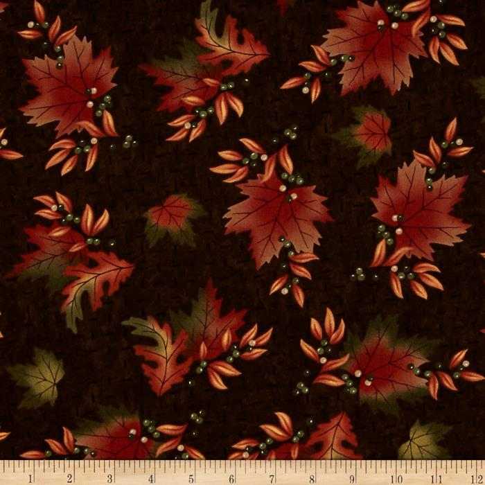 Moda Maple Island Autumn Leaves Dark Earth