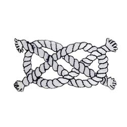 Nautical Knot Applique Navy