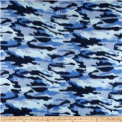 Fleece Print Camo Blue