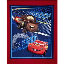 Disney Cars Speed Racing Panel Fabric