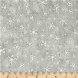 Christmas Whimsy Snowflakes Light Grey