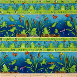 Froggy Fun Repeating Stripe Multi