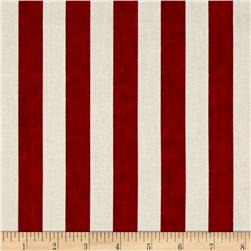 Timeless Treasures Stripe Red Fabric