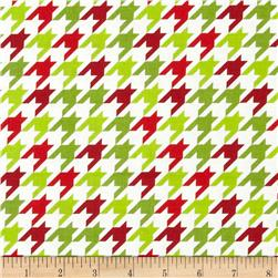Riley Blake Medium Houndstooth Christmas Fabric