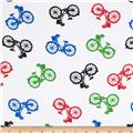 Comfy Flannel Bicycles White