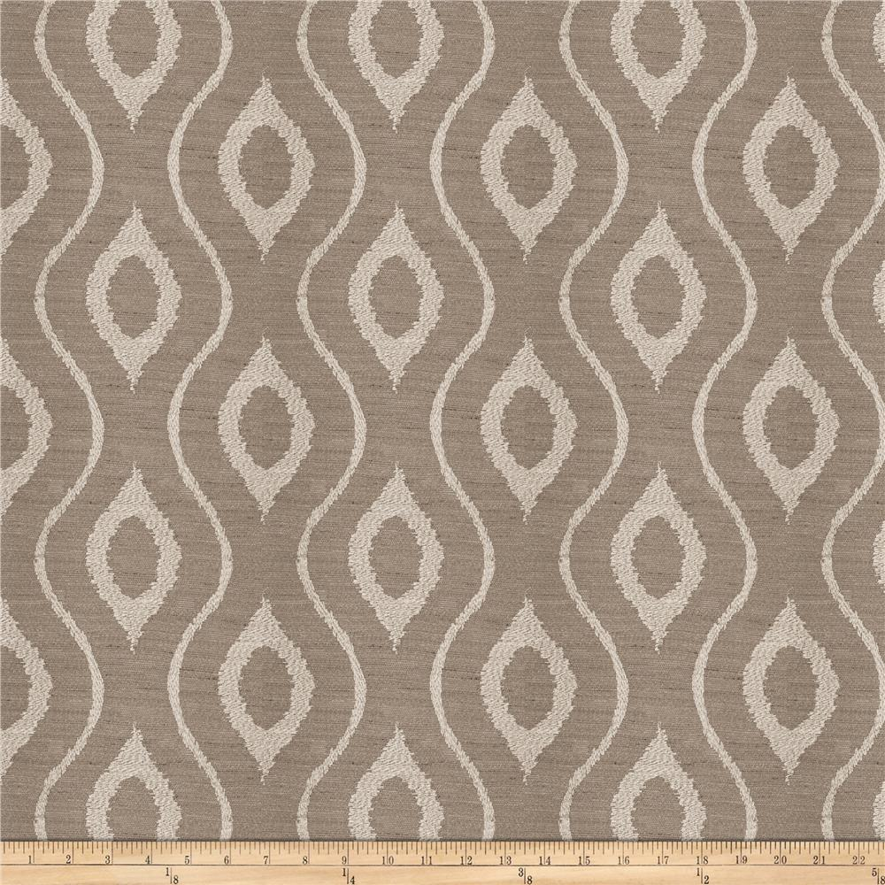 Fabricut Ghoul Embroidered Basketweave Grey