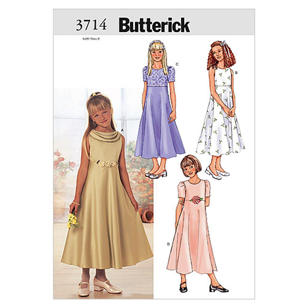 Butterick Girls' Dress Pattern B3714 Size 070