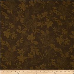 "108"" Wide Quilt Back Modern Leaf Brown"