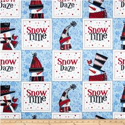 Snow Daze All Over Snowmen Blue/White