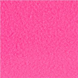 Fleece Solid Neon Pink