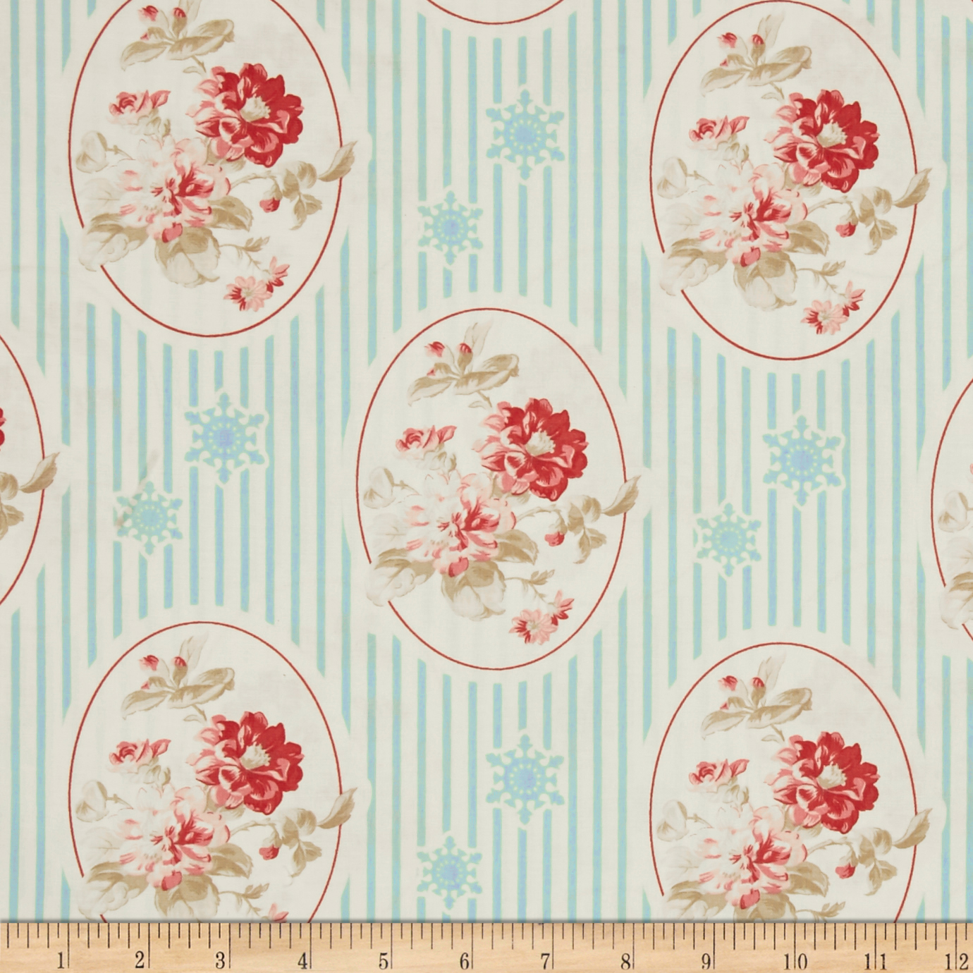Tanya Whelan Winter Garden Cameo Blue Fabric by Westminster in USA
