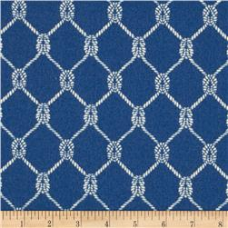 Waverly Sun N Shade Square Knots Marine