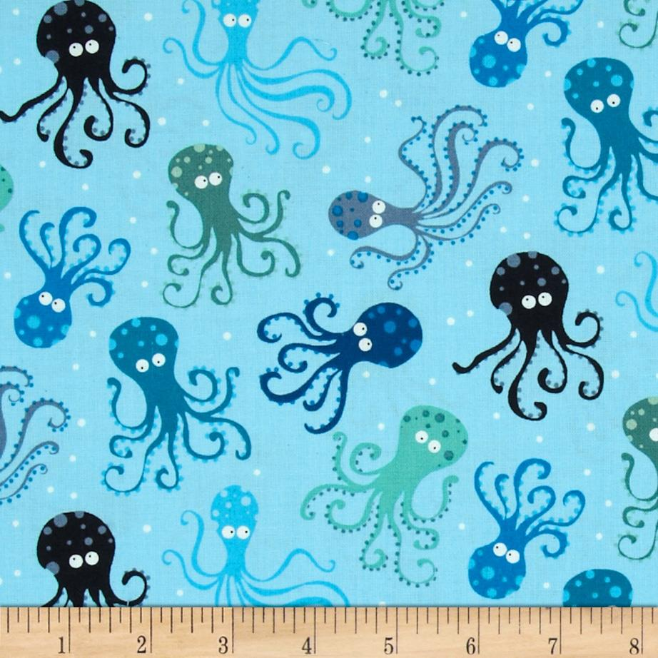 Timeless Treasures Scuba City Octopus Surf