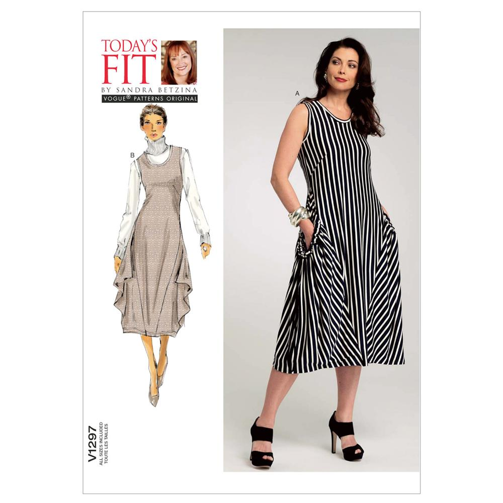 Vogue Misses' Dress Pattern V1297 Size OSZ
