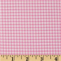 Basic Training Small Gingham Pink/White Fabric