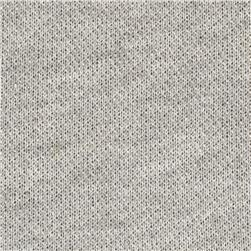 French Terry Knit Heather Ash Grey