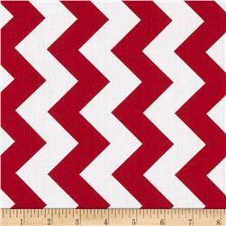 Riley Blake 108'' Wide Medium Chevron Red Fabric