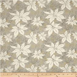 Winter Memories Metallic Poinsettia Taupe